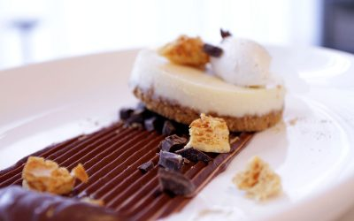 And finally, contender #3 for the Oru Dessert Showdown, the Manjari-Ginger cheesecake…