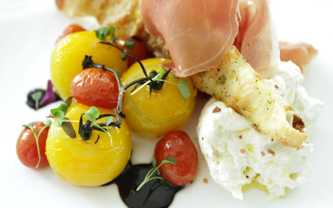 Roasted Campari & Burrata Caprese