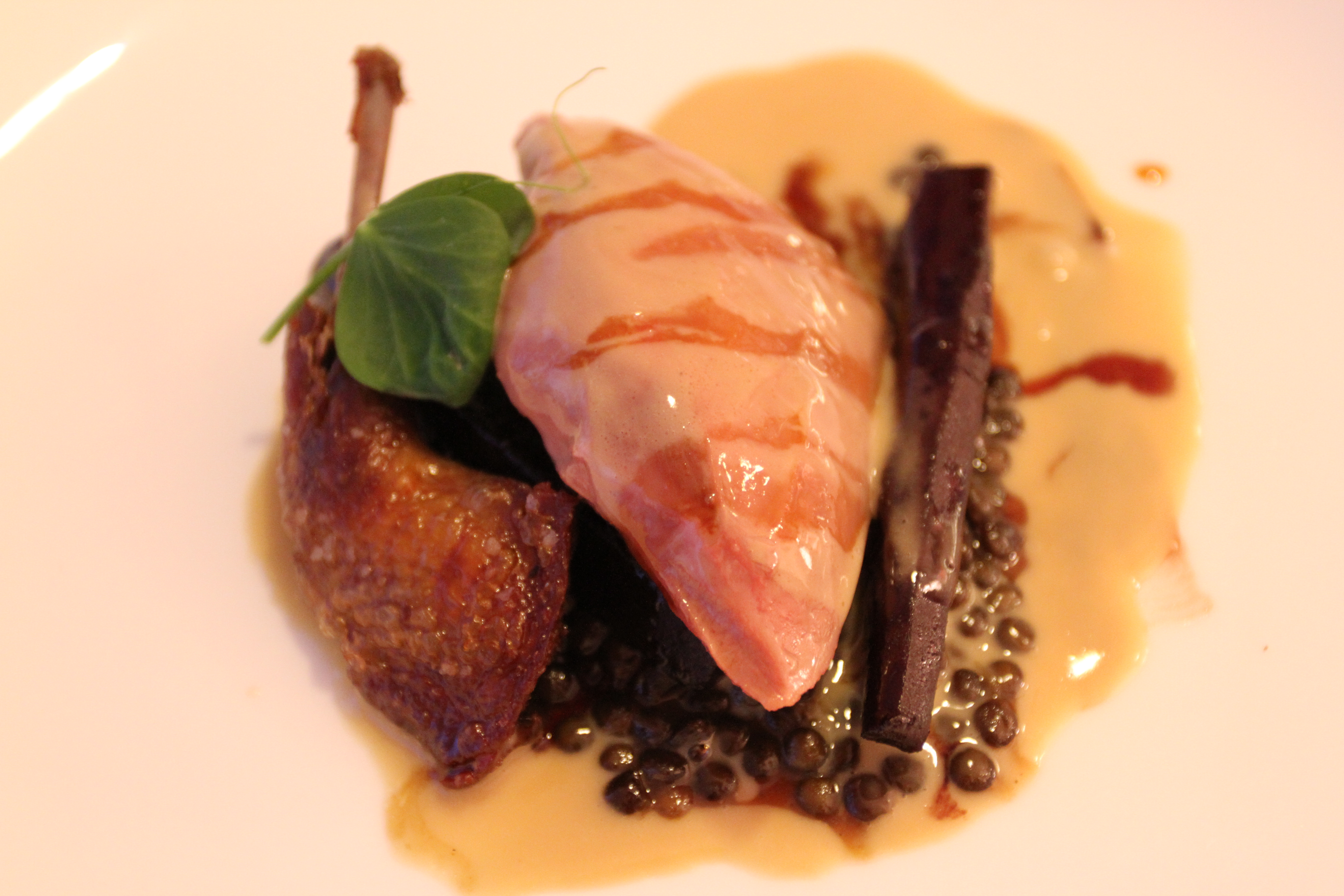 Lostock Farms Squab with Foie Gras sauce